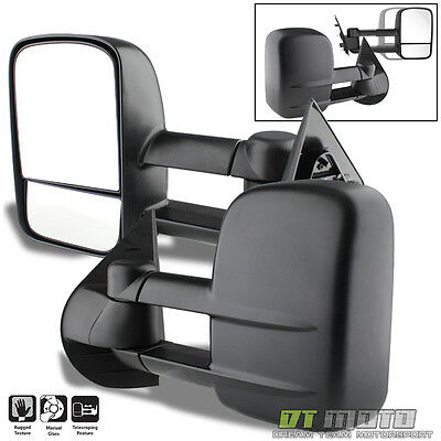 PAIR Manual Towing Telescoping Mirrors Suburban Silverado Avalanche Tahoe 07-14