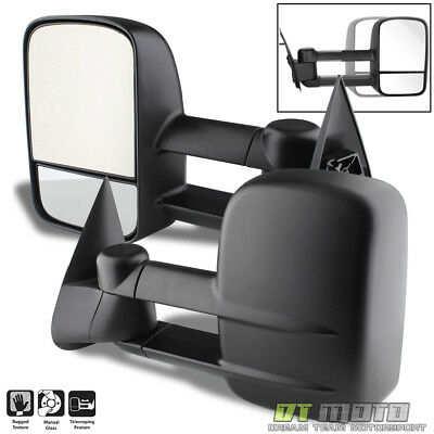 Left+Right 99-07 Silverado Sierra Extend Towing Telescoping Side Mirrors Manual