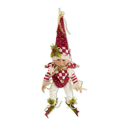"""Santa's Elf Jester Checked Hat Collar Christmas Holiday Décor 15"""" NeW"""