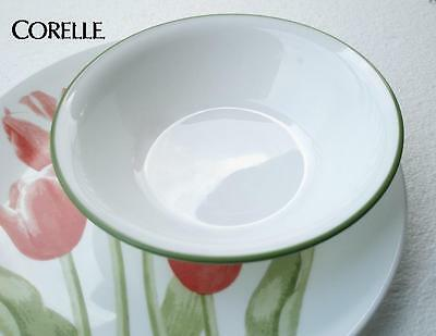 1 Corelle TULIP BOUQUET 18-oz SOUP CEREAL Salad BOWL *White w/Green Band NEW