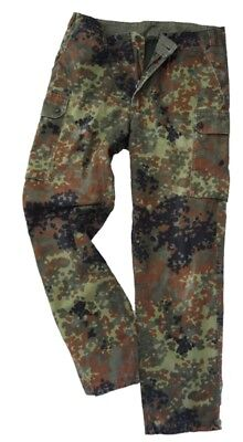 German Army Issued FLECKTARN CAMO Trousers - All Sizes Camouflage Military Pants