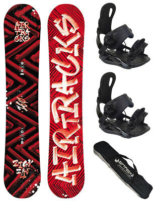 Snowboard Set AIRTRACKS Hit And Run Rocker+Bindung Savage+SB Bag/150 155 161cm/
