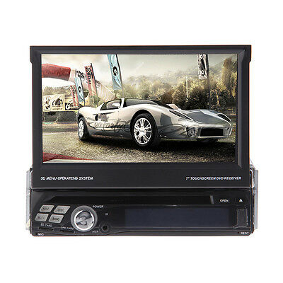 7'' Android 4.0 1 Din In-Dash Car Stereo DVD Player 3G Wi-Fi GPS BT iPod RDS TV!