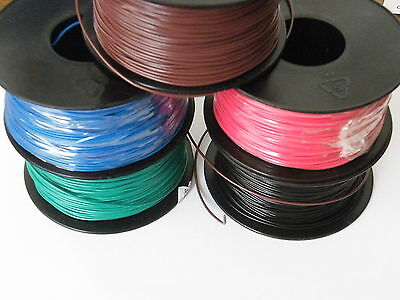 100m Reel of 7/0.2mm Equipment Wire Colours select from menu. 24awg 1000v 1.4A