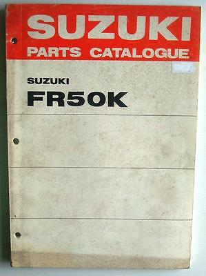 SUZUKI FR50K Illustrated Motorcycle Parts Catalogue/List  Apr 1973 #99000-91790
