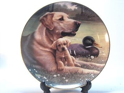 Hamilton LIKE FATHER LIKE SON A Sporting Generation Dog Puppy Plate Collection