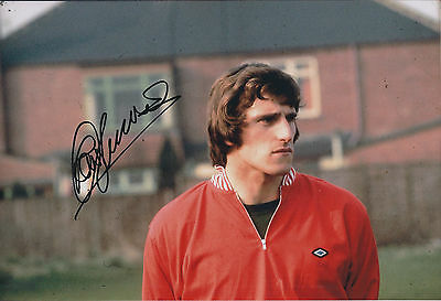 Ray CLEMENCE GENUINE SIGNED Liverpool FC 12x8 Photo AFTAL Autograph COA RARE