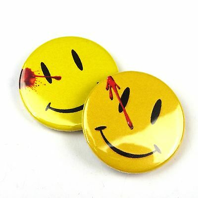 Set of 2 - Watchmen Badge - Comedian's Badge - Button Badge - 25mm 1 inch Parody