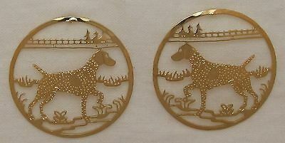 German Shorthaired Pointer Jewelry Gold Post Earrings