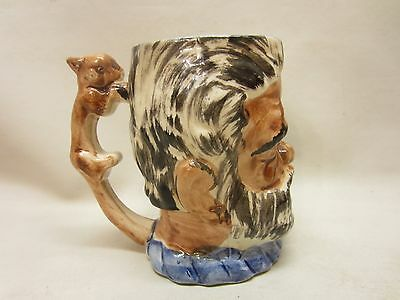 Hand Painted Toby Made in Japan Man with Animal Handle Cat