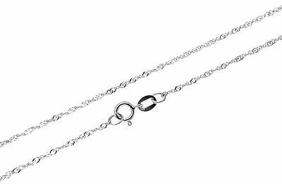"""Solid 14K White Gold Singapore Chain Anklet 9"""" Only $39.99"""