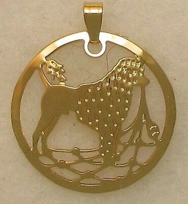 Portuguese Water Dog Jewelry Lion Clip Pendant by Touchstone
