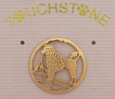 Portuguese Water Dog Jewelry Lion Clip Clutch Pin by Touchstone