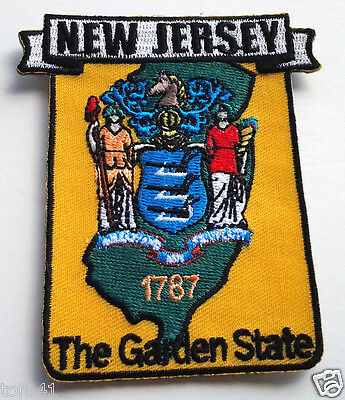*** NEW JERSEY STATE MAP *** Biker Patch PM6731 EE