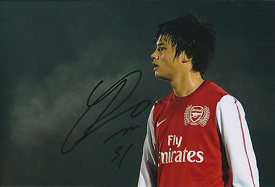 Ryo MIYAICHI SIGNED Autograph 12x8 Arsenal Photo AFTAL COA Japan Football