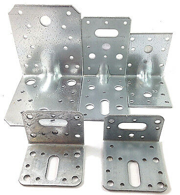 Standard & Reinforced Galvanised Angle Bracket Heavy Duty Decking Joists, Timber