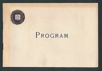 1906 Yale Apollo (Glee, Mandolin and Banjo Club) Program