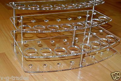 3 TIER  24 HOLES Stand Holder Display Acrylic