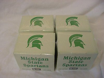 4 SETS MICHIGAN STATE SPARTANS COLLEGIATE COLLECTION MAGIC JOHNSON CARDS NEW