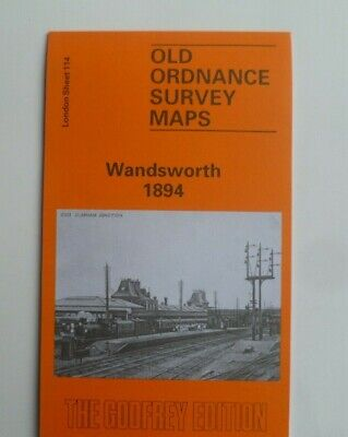 Old Ordnance Survey Detailed Maps Wandsworth London 1894 Godfrey Edition  New