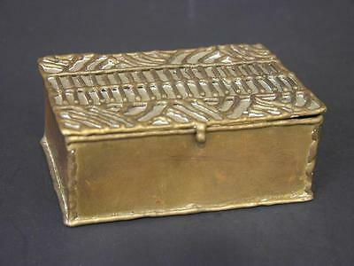 Vintage Mid-Century Hand Made Brass Box Marked Exart, Hecho En Mexico, Small