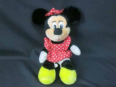 VINTAGE DISNEYLAND WALT DISNEY WORLD RED POLKADOT DRESS MINNIE MOUSE PLUSH 12""