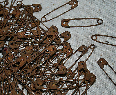 """75 Primitive 1-1/2"""" Rusty Safety Pins  -  These are RUSTY"""