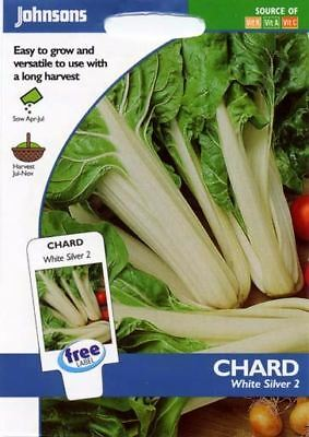 Johnsons Seeds - Pictorial Pack - Vegetable - Chard White Silver 2 - 350 Seeds