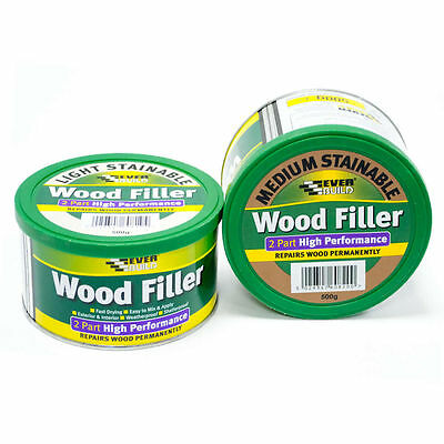 500G Everbuild 2 Part High Performance Wood Filler Various Colours 500 Grams