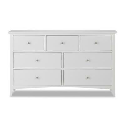Edward Hopper white chest of drawers, ASSEMBLED, metal runners, dovetail joints