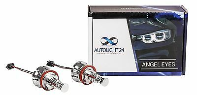 BMW E90 E91 LCI 3er 40 Watt LED Angel Eyes Cree Chip Marker Corona Ringe H8 a1