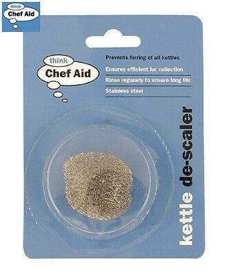 Chef-Aid Mesh Kettle Descaler Metal Limescale Cleaning Remover Stainless Steel