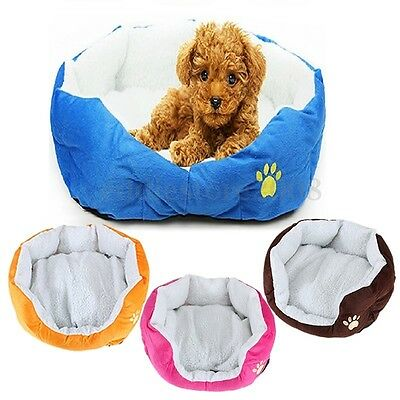 5 Color New Pet Dog Puppy Cat Soft Fleece Warm Bed House Plush Cozy Nest Mat Pad