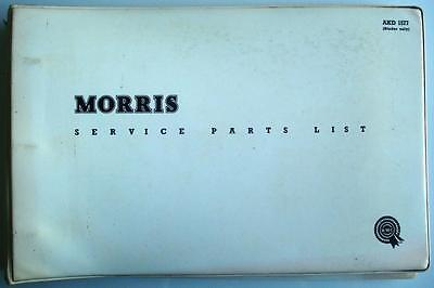MORRIS QUARTER-TON GPO (GENERAL POST OFFICE) VAN Parts List #AKD1934 2nd Edition