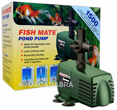 Fish Mate 1500 Fountain Pump Koi Fish Garden Pond Flow Waterfall Feature Filter
