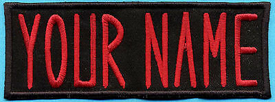 "TODDLER Sized Iron on  Custom Ghostbusters Name Tag Patch - ""YOUR NAME"""