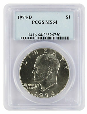 1974-D Eisenhower Dollar Ike MS64 PCGS 64 Mint State