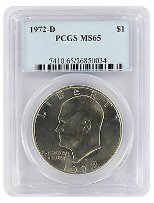 1972-D Eisenhower Dollar Ike MS65 PCGS 65 Mint State