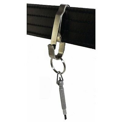 Tactical Corrections Police Security Heavy Duty Key Holder Clip Silver Steel