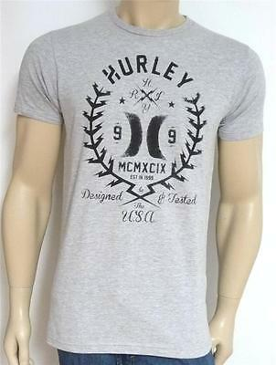 212c4ec16 Hurley Razor Wire Tee Mens Classic Fit Gray Cotton Blend T-Shirt New NWT
