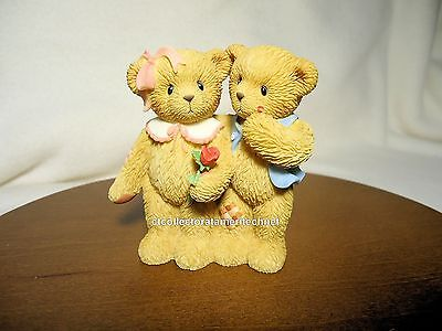 Cherished Teddies Our Love Is Shown With Hugs & Kisses 2003 NIB