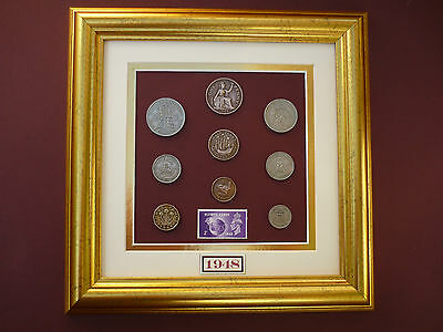 FRAMED 1948 COIN SET 69th  BIRTHDAY / ANNIVERSARY GIFT IN 2017
