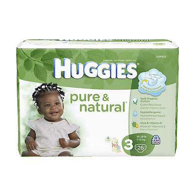 Huggies Pure & Natural Size 3 Diapers - 26 Count