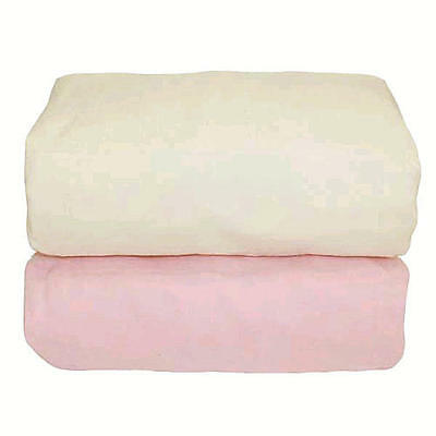 Tadpoles Set of 2 Organic Crib Fitted Sheets - Pink