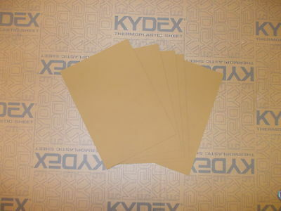 5 Pack KYDEX T SHEET 420 X 297 X 2MM A3  (P-1 HAIRCELL COYOTE BROWN 72932)