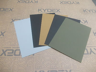 5 Pack 2 mm  KYDEX T SHEET 297 X 210 1 Black 1 white 1 coyote 1 grey 1 olive