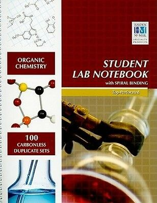 NEW Organic Chemistry Student Lab Notebook by Hayden McNeil Spiral Book (English