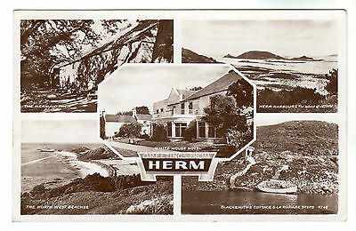Herm - Multiview Photo Postcard 1952 / Channel Isles