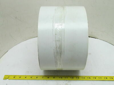 "3-Ply White Smooth Top Rubber Conveyor Belt 7-1/8"" Wide 66' Long 1/8"" Thick"