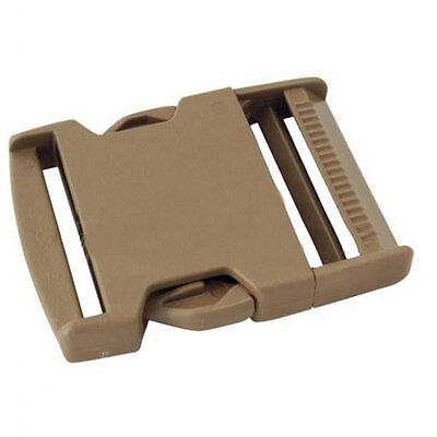 """ITW Nexus 50mm / 2"""" Side Release Buckle Tan 500 GhillieTex IRR ( Military fabric"""